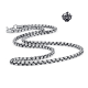 Silver necklace solid stainless steel vintage style link chain length 2