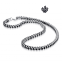 Silver stainless steel solid bikies chain thick bracelet length 2