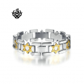 Silver gold Chain stainless steel bracelet star pattern