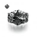 Silver hat rose cowboy bracelet stainless steel solid bikies bracelet