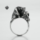 Silver dog Beagle Cocker Spaniel ring solid stainless steel band