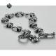 Silver bracelet fleur-de-lis cross chain soft gothic