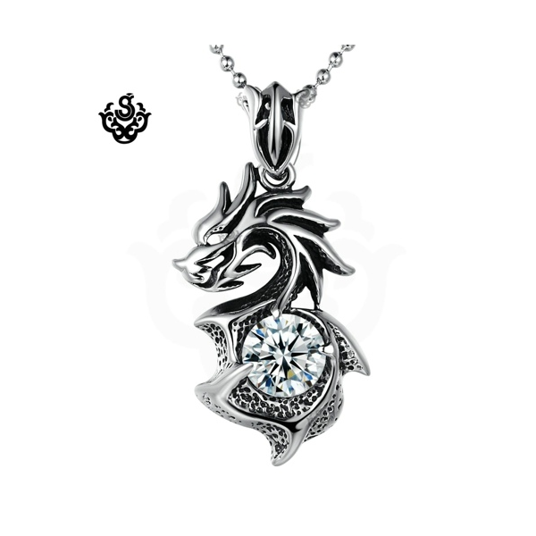 Dragon black simulated diamond vintage style soft gothic pendant dragon black simulated diamond vintage style soft gothic pendant necklace loading zoom mozeypictures Choice Image