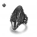 Silver bikies ring stainless steel band Alien soft gothic Movie Replicas