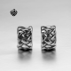 Siver Ear Cuff Clip On Non-Piercing Earrings Woven Men Women Stainless Steel