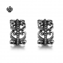 Siver Ear Cuff Clip On Non-Piercing Men Women Earrings Stainless Steel
