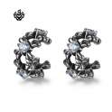 Siver Ear Cuff Clip On Non-Piercing Swarovski crystal Earrings Stainless Steel