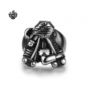 Silver biker ring stainless steel motor engine band