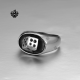 Silver ring stainless steel lucky dice soft gothic