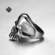 Silver biker ring stainless steel skull band punk soft gothic