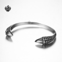 Silver bracelet stainless steel boys men women claws cuff bangle soft gothic