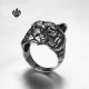 Silver biker ring stainless steel tiger jaguar band soft gothic