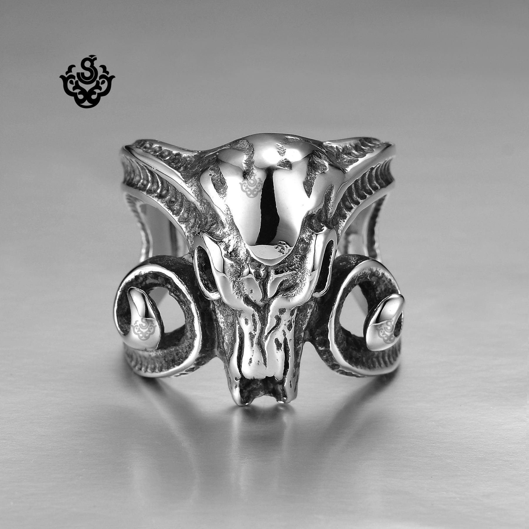 ring solid steel skull en reaper soft rings grim gothic engagement stainless death band silver