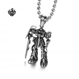 Silver cross pendant swarovski crystal stainless steel necklace soft silver gundam pendant stainless steel necklace movie replica soft gothic mozeypictures Gallery