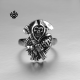 Details about Silver biker ring stainless steel ripper death band soft gothic punk