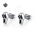Silver stud stainless steel ghost earrings soft gothic