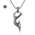 Silver sword evil blade knife pendant stainless steel necklace soft gothic