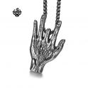 Silver Hand missing finger pendant stainless steel necklace SOFT GOTHIC