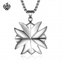 Silver funky cross pendant stainless steel necklace solid soft gothic