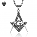 Silver designer pendant special stainless steel chain necklace soft gothic