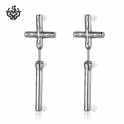 silver stud cross earrings stainless steel soft gothic new arrival