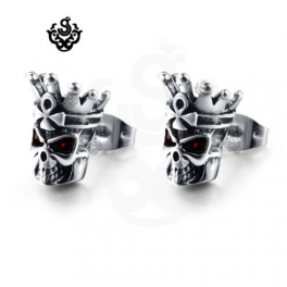 Crown Skull Earrings