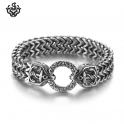 Silver anchor sailor bracelet stainless steel double chain soft gothic