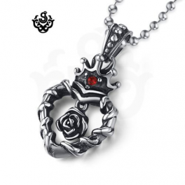 Heart Rose Pendant