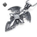 Wing Sword Cross Pendant