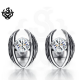 Silver stud clear swarovski crystal earrings soft gothic 0.5ct