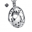 Silver Friday the 13th mask pendant replica stainless steel necklace soft gothic