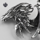 Silver dragon pendant stainless steel wing claws horns necklace soft gothic