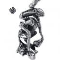 Silver Requiem Alien Warrior pendant stainless steel 3D necklace