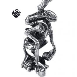 Silver requiem alien warrior pendant stainless steel 3d necklace silver requiem alien warrior pendant stainless steel 3d necklace mozeypictures Gallery