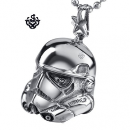Silver Star Wars A New Hope EFX Replica Stormtrooper Helmet s steel necklace