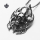 Silver skull pendant stainless steel vintage style battle-ax necklace gothic