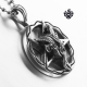 Silver demon pendant stainless steel vintage style the face of evil necklace