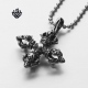 Silver cross celtic crown pendant stainless steel vintage style necklace gothic