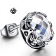 Silver stud swarovski crystal earring SINGLE vintage style 2ct