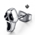 Silver stud stainless steel ghost earring single soft gothic