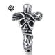 Silver huggie earring cross skull stainless steel SINGLE vintage style