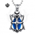 Silver pendant swarovski crystal stainless steel necklace gothic new