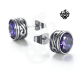 Silver swarovski crystal stainless steel stud earrings round 1.25ct