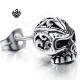 Silver stud swarovski crystal stainless steel skull single earring