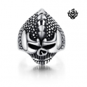 Silver iguala skull ring solid stainless steel band
