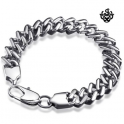 Silver bracelet stainless steel mens chain soft gothic
