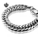 Silver bracelet bikies chain chunky heavy stainless steel