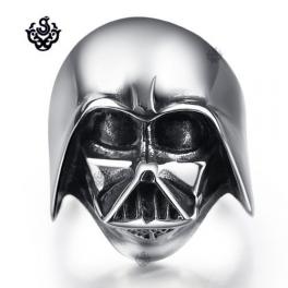Silver ring Star Wars A New Hope EFX Replica Darth Vader Helmet stainless steel