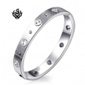 Silver bangle stainless steel bracelet