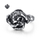 Silver Hands Skeleton Holding Skull ring solid stainless steel band